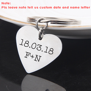 Key Chain Key Ring A-Z 26 Initials Letter Drive Safe Drive Safe I need you here with me For Men Women Sleutelhanger Keychain(China)