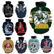 American Football Hoodie Men 3d Print Hoodies Sport Hoodie S