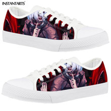 Canvas Shoes Men Vulcanize Casual Sneakers INSTANTARTS Street-Style Anime Comfort Low-Top