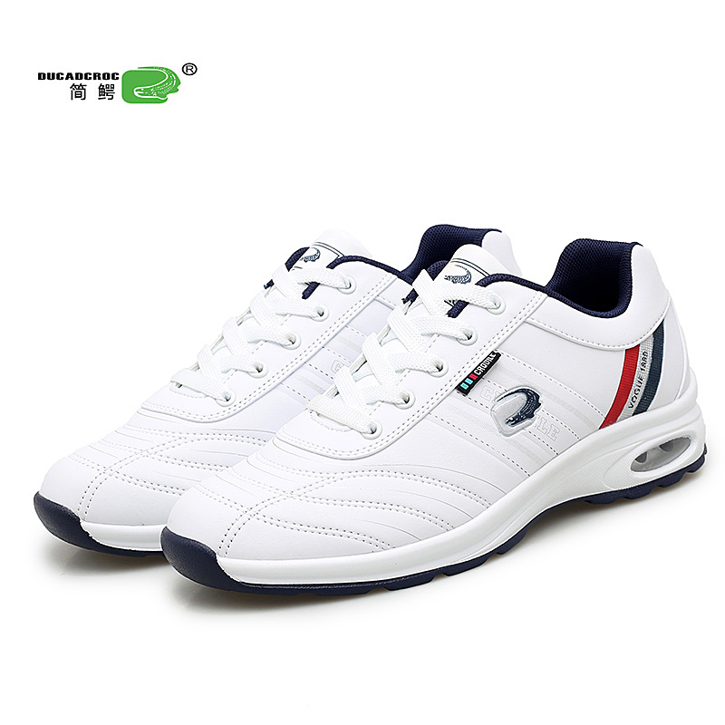 Waterproof Golf Shoes For Men Big Size 39-46 Professional Mens Golf Sport Trainers Black White Spikeless Golf Sneakers Brand