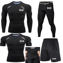 New four-piece gym training short-sleeved long-sleeved compression sportswear T-shirt running sports pants