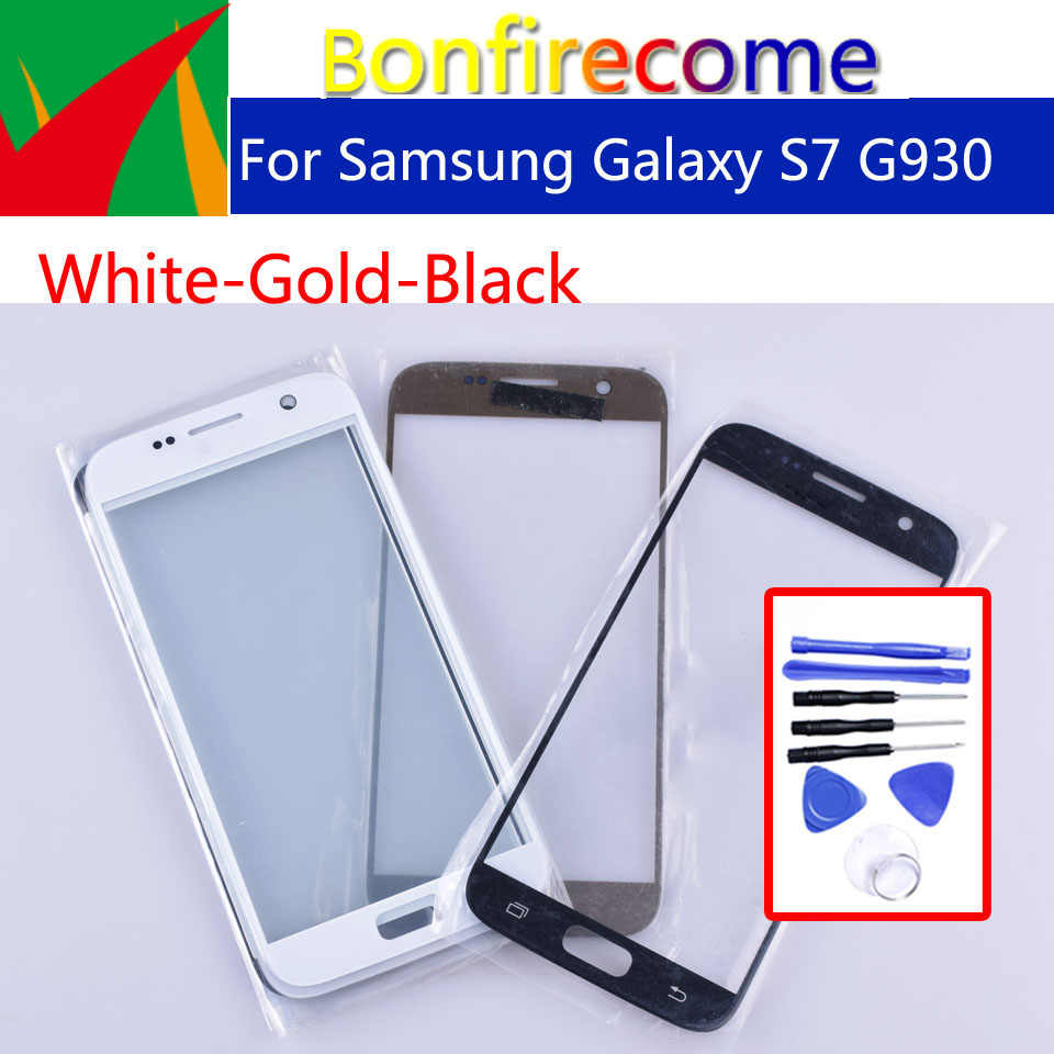"S7 מסך מגע לסמסונג גלקסי S7 G930 G930F G930A SM-G930L מגע מסך פנל קדמי זכוכית עדשת LCD חיצוני זכוכית 5.1"""
