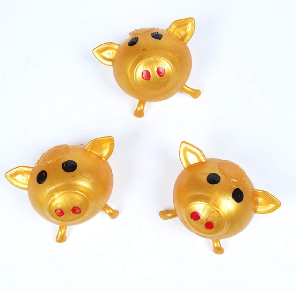 Anti-stress Decompression Splat Ball Vent Toy Smash Various Styles Pig Toys 4pcs Squishi Toy Squishie Stress Relief Toys For Kid enlarge