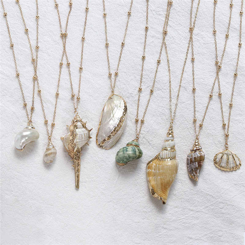 2019 Boho Seashell Necklace Beach Shell Cowrie Pendant Necklace For Women Female Summer Bohemian Jewelry