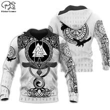 PLstar Cosmos Viking Warrior Tattoo New Fashion Tracksuit casual Colorful 3D Print Zipper/Hoodie/Sweatshirt/Jacket/Men Women s-9(China)