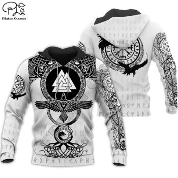 PLstar Cosmos Viking Warrior Tattoo New Fashion Tracksuit casual Colorful 3D Print Zipper/Hoodie/Sweatshirt/Jacket/Men Women s-9