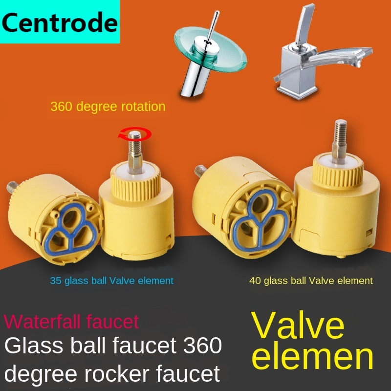 Glass Basin Faucet 35/40 Ceramic Valve Core Cold And Hot Water Mixing Valve Valve Core Waterfall Rocker Ball Arm Valve Core