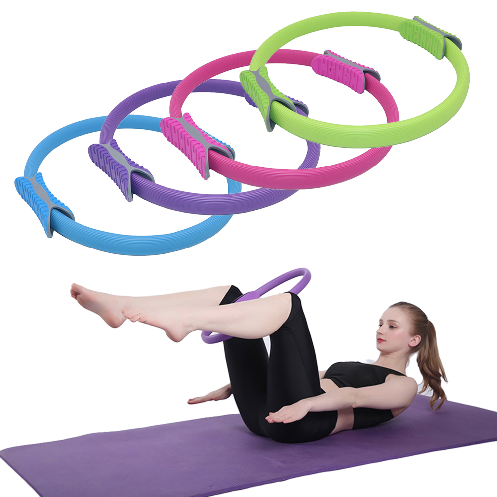 Pilates Ring Magic Circle Yoga Circle Dual Grip Sporting Good Yoga Ring Exercise Fitness Body Massage Loop Lose Weight Equipment