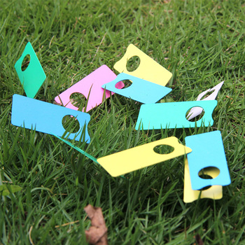 Colorful High Quality Plastic Plants Tags Nursery Garden Tags Sign PVC Gardening Labels Stake Marker Hanging  for Bonsai 100PCS 50pcs plastic plants tags nursery garden ring label pot marker stake hanging tags greenhouse bonsai collar tags