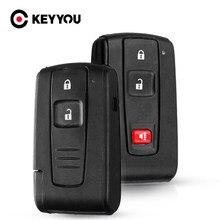 KEYYOU 2/3 botones inteligente carcasa de llave a distancia de coche para Toyota Prius 2004, 2005, 2006, 2007, 2008, 2009 Corolla Camry clave