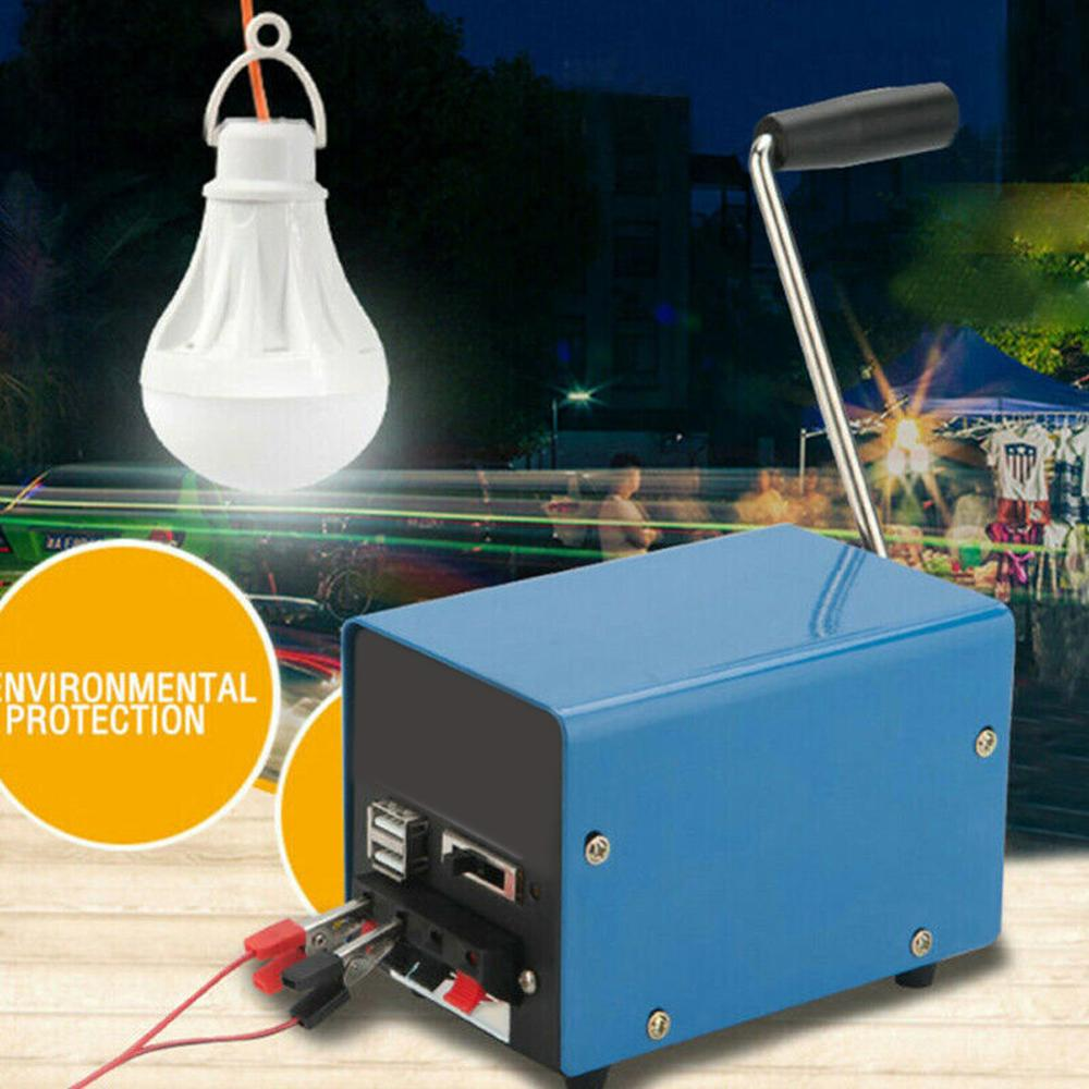 Outdoor Hand Crank Dynamo Charger Portable Hand Power Hand Crank USB Charging Emergency Survival Hand Crank Generat
