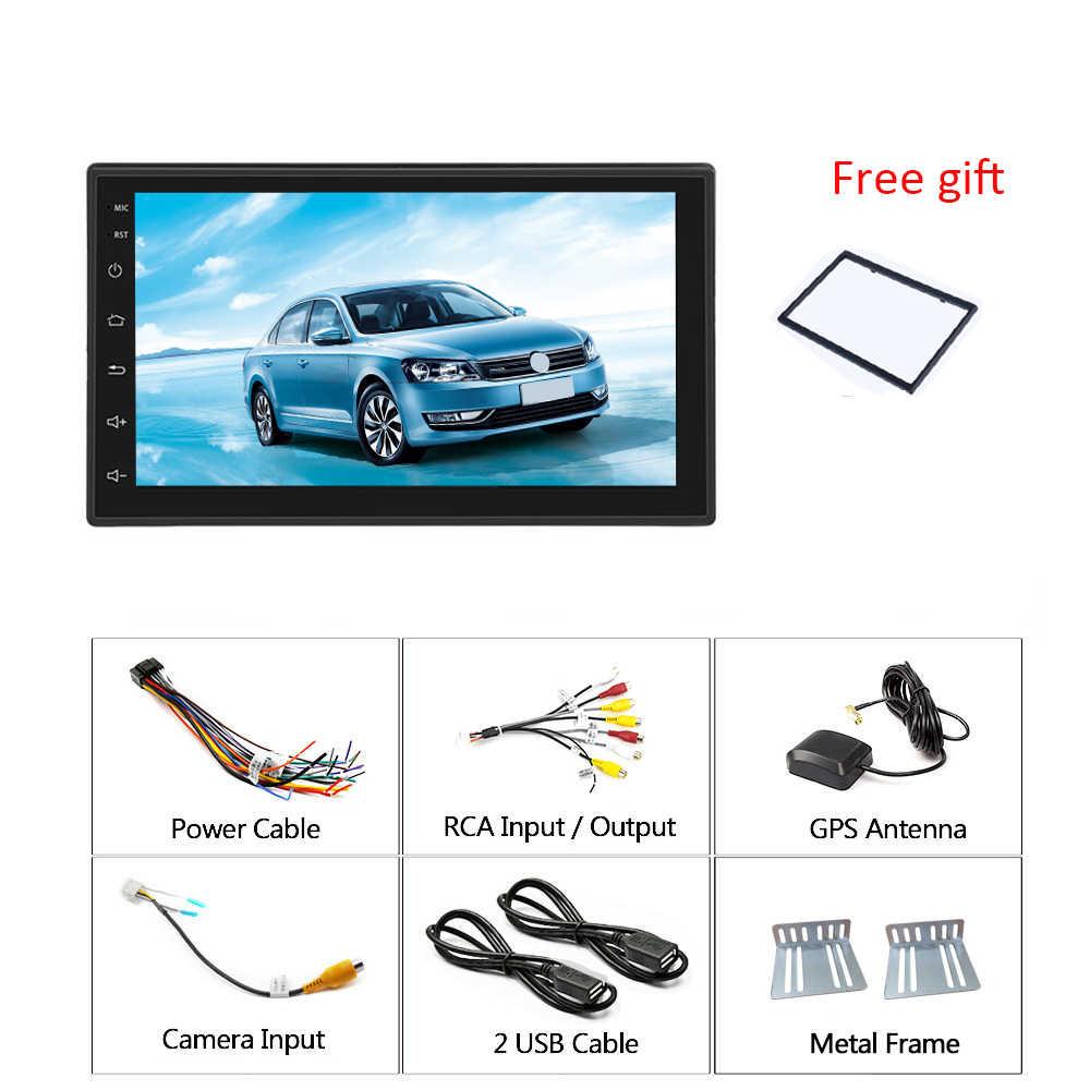 """Podofo Android 9.1 2 Din Auto Radio 7 """"Car Multimedia Lettore Auto Universale Stereo GPS per Volkswagen Nissan Hyundai kia Toyota"""