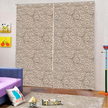 Luxury Fashion European Curtains For Living room Bedroom Decoration Curtains Blackout Pattern Curtains Custom any size