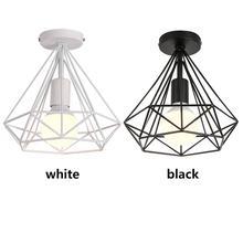 Fer plafonniers métal plafonniers lampe E27 scandinave lustre chambre salle à manger décor salon suspendus lignts lampe