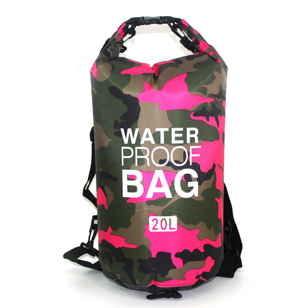 2L 5L 10L 20L Waterproof Ultralight Outdoor Sport Bags Camouflage Orange Diving Water Proof Container Sport Bag Swimming Bags