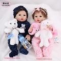 43 см 17 ''полный силиконовый корпус Reborn Baby Doll twins Bath Toy Реалистичная новорожденная Детская кукла «Принцесса» Bonecas Bebes Reborn Doll