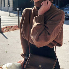 Women Knitted Sweater 2019 Turtleneck Casual Long Sleeve Solid Color Sweater Autumn Winter Warm Pullover Pull Femme Hiver mujeres sueter women turtleneck sweater winter fashion lantern sleeve korean ribbed knitted pullover solid color pull femme 2018