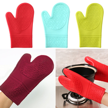 1 Piece Hight Quality Food grade Silicone glove Heat Resistant Cooking BBQ Grill Oven Mitt Baking glove Non-slip Oven Mitt pearland oilers personalized oven mitt