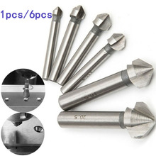 Wish HSS Chamfering | 3 Three Metals Set Edge 90 Drill Chamfer 6pcs Bit Degree Flute Mill Titanium Drilling Countersink