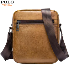 VICUNA POLO borsa a tracolla da uomo borsa da uomo in vera pelle borsa a tracolla da uomo Casual stile Vintage borsa a tracolla da uomo
