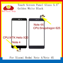 10Pcs/lot Touch Screen For Xiaomi Redmi Note 4/Note 4X Panel Digitizer Sensor Front 4 LCD Glass Lens Replacement
