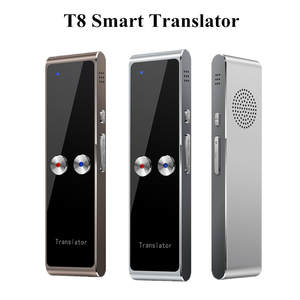 Portable T8 Smart Voice Speech Translator Two-Way Real Time 68 Multi-Language Translation For Learning Travelling Business Meet
