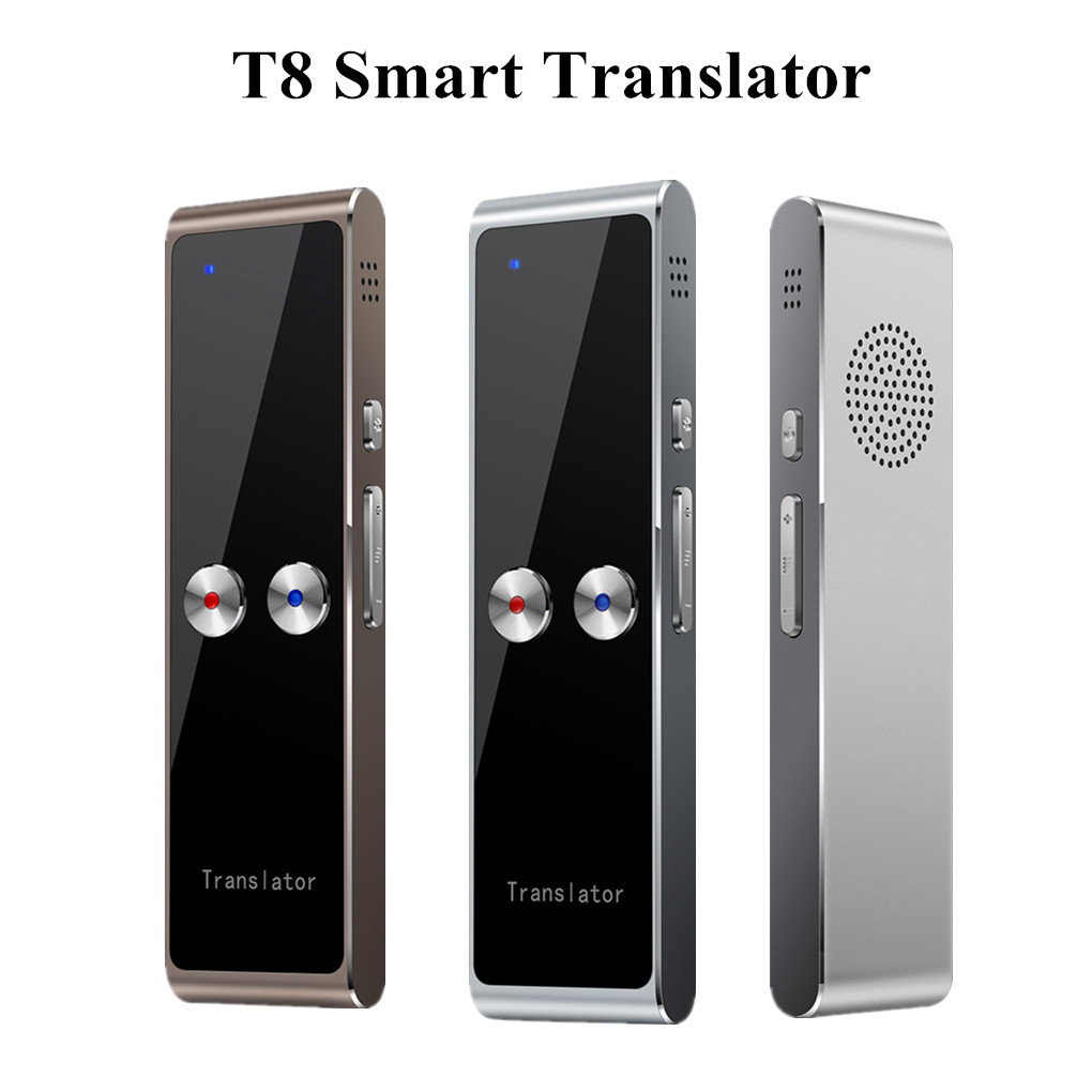 Portable T8 Smart Voice Speech Translator Two-Way Real Time 68 Multi-Language Translation For Learning Travelling Business Meet image