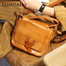 EUMOAN Retro art small square package Sen Department of bag mini handbag handmade leather handbags shoulde