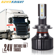 2 pces 24v conduziu a lâmpada para o caminhão leve h4 h7 h3 h11 6000k conduziu 24v o feixe alto baixo conduziu a luz do caminhão do farol somente para 24v