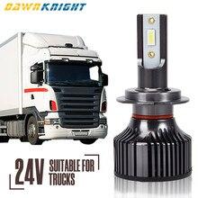 2 pces 24v conduziu a lâmpada para o caminhão h4 h7 h3 h11 6000k 12000lm baixo feixe alto super brilhante conduziu a luz do caminhão do farol apenas para 24v