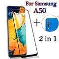 Защитное стекло, Защитная пленка 2 в 1 для Samsung Galaxy A50/A505F