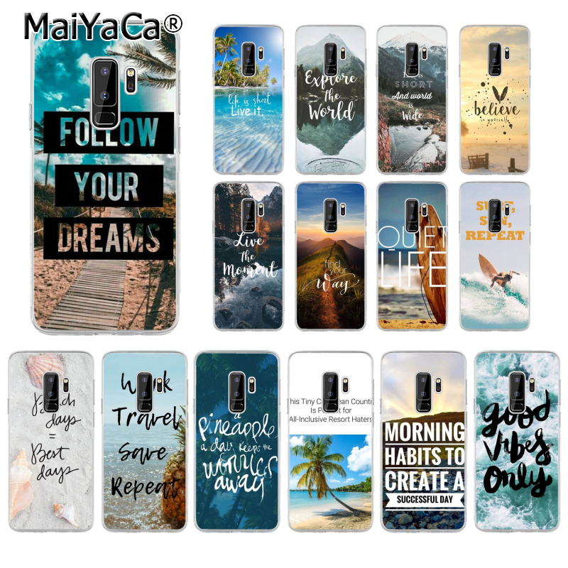 MaiYaCa Travel mountain sea beach Custom Photo Soft Phone Case for Samsung S9 Plus S8 S8plus S7 S6 S5 Cover