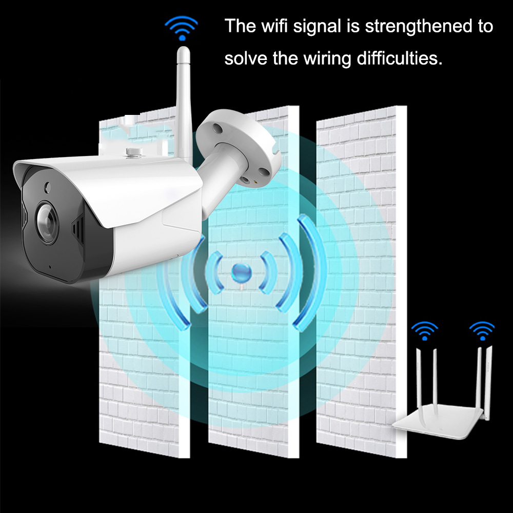 Tuya Home Security Kameras System Wifi Video Überwachung Kit CCTV 1080P Outdoor Nachtsicht Zwei-wege Audio Wasserdichte NVR kit