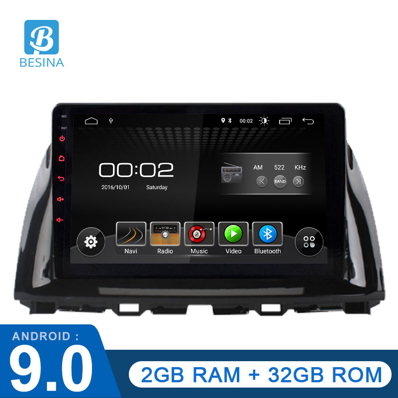 Besina 9 Inch <font><b>Android</b></font> 9.0 Car Multimedia Player For <font><b>Mazda</b></font> CX5 <font><b>CX</b></font>-<font><b>5</b></font> <font><b>CX</b></font> <font><b>5</b></font> 1 KE 2011-2017 WIFI GPS 1 Din Car <font><b>Radio</b></font> Stereo 2G+32G image