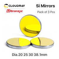 Ultrarayc di Alta Qualità Specchio Si D19.05 20 25 30 38.1 millimetri Rivestito In Oro per CO2 Incisione Laser Macchina di Taglio Può trasporto veloce