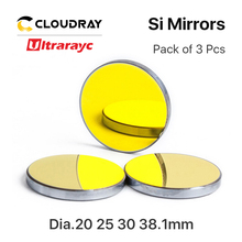 цена на Ultrarayc High Quality Si Mirror D19.05 20 25 30 38.1mm Coated Gold for CO2 Laser Engraving Cutting Machine Can Fast Shipping