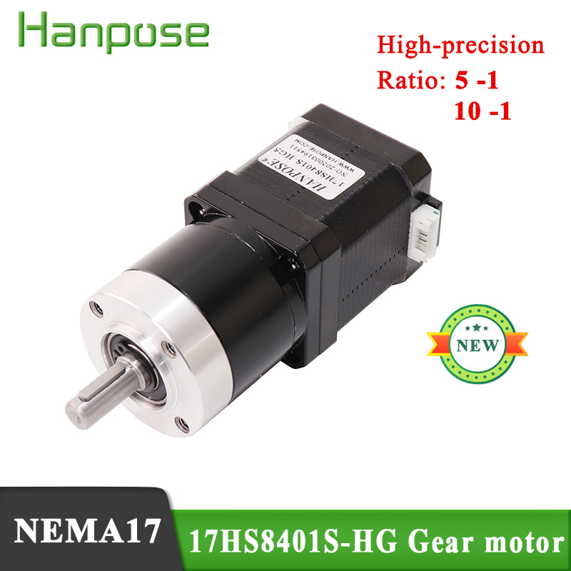 <font><b>NEMA17</b></font> <font><b>Gear</b></font> planet motor 17HS8401S-HG 42 high precision reduction stepping motor gearbox 1.8A 52N.cm 48mm ratio 5:1 10:1 image