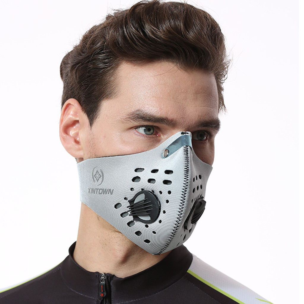 Men Sport Cycling Maske Face Maske with Filters Dust Anti Pollution Respirator Mascarillas Cosplay Accessories Blackhead