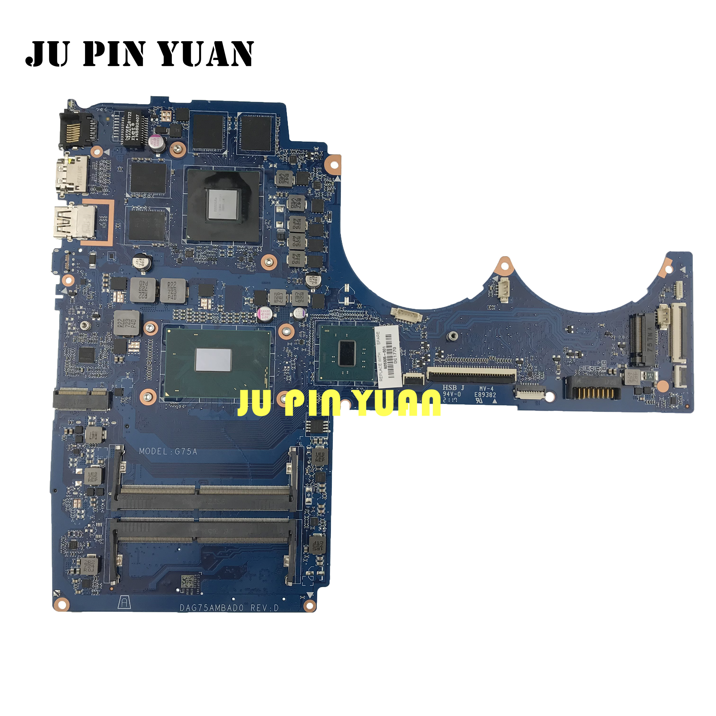 926305-601 926305-001 G75A DAG75AMBAD0 For HP Pavilion 15-CB Laptop Motherboard GTX1050 4GB <font><b>i7</b></font>-<font><b>7700</b></font> fully Tested image