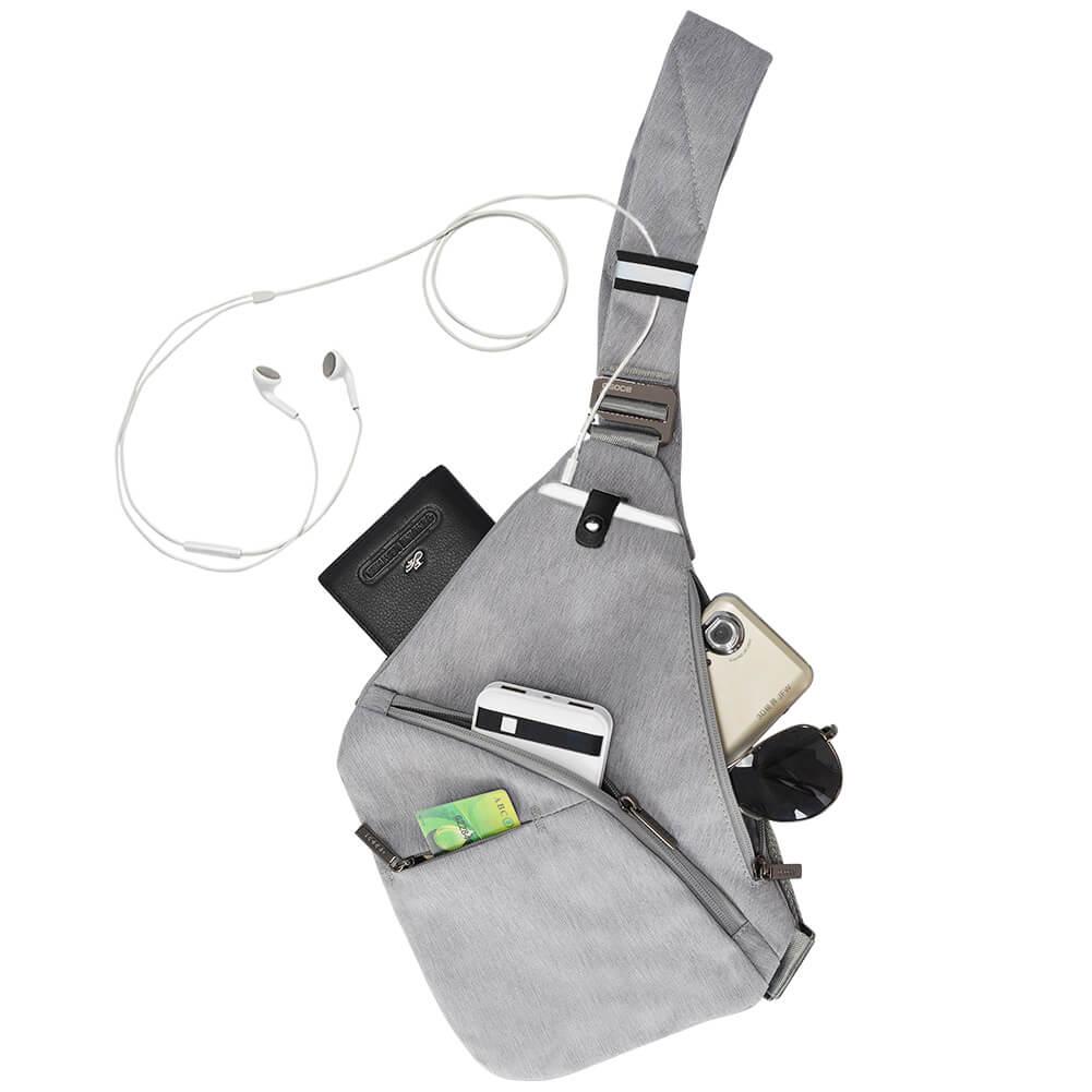 Anti-Theft Crossbody Bag Shoulder Bag Sling Chest bag Waterproof Cover Pack Rucksack Bicycle Sport 7