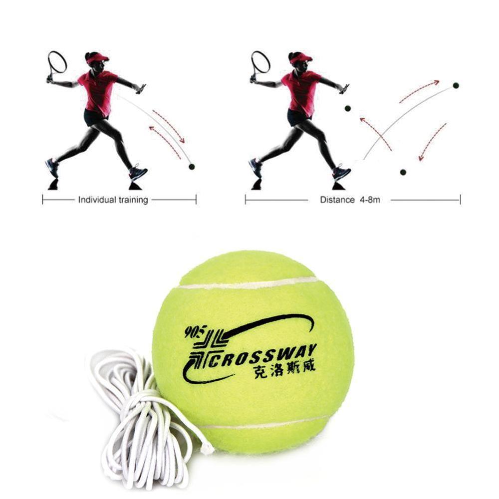 Professional Beginner Training Practice Rebound Tennis Ball With 3.8m Elastic Rope Rubber Ball Training Machine