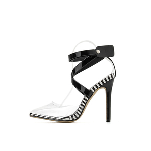 Image 4 - Kcenid Nieuwe Transparante PVC wees teen zomer sandalen vrouwen sexy hoge hakken vrouwen schoenen multi color cross band klinknagels pompen