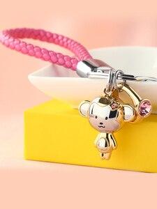 Image 5 - Milesi Liebhaber Keychain Affe Form Schlüssel Anhänger Strass Frauen Schlüssel Finder Mode Männer Auto Schlüsselring Nette Paar Geschenk K0197