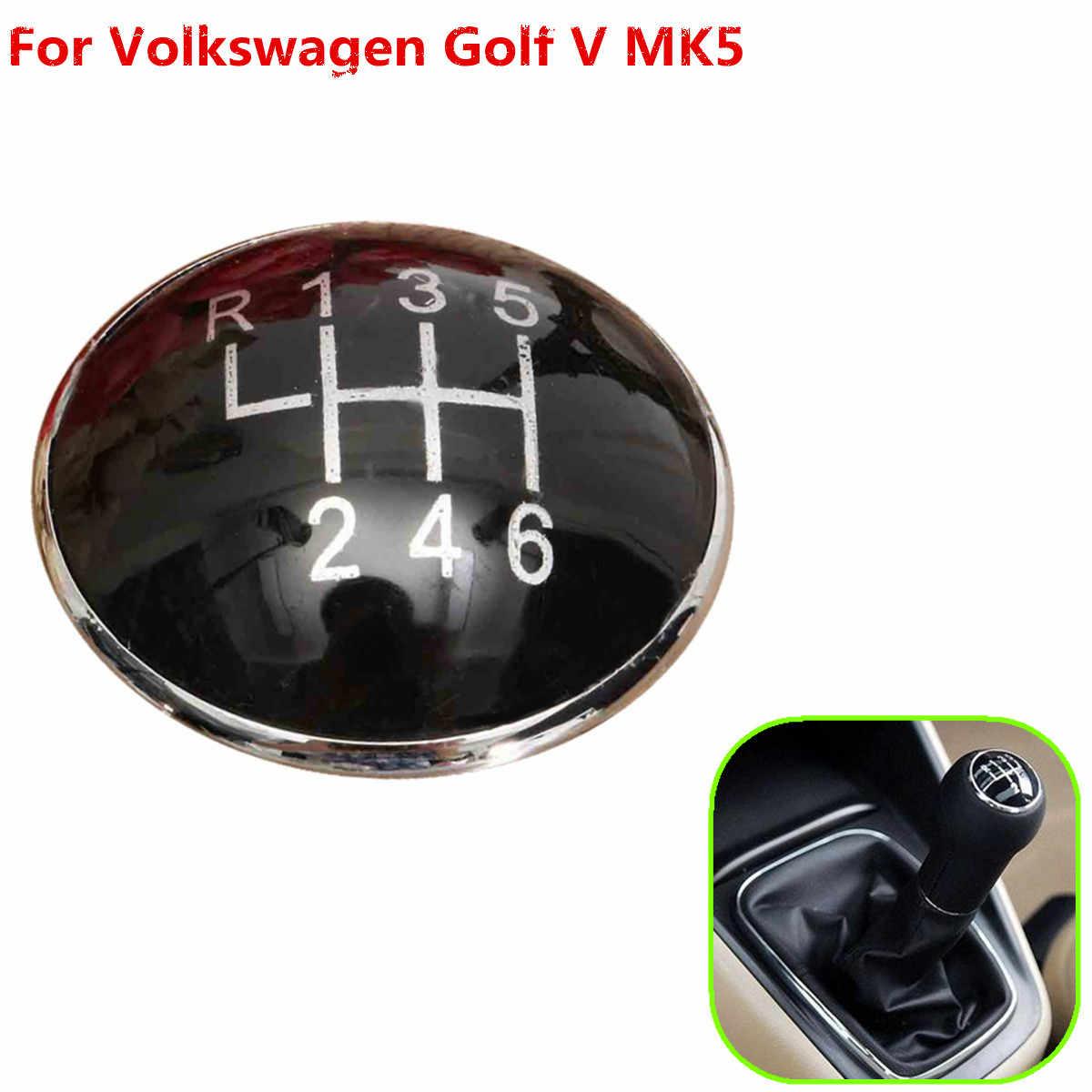 5 Tốc Độ 6 Tốc Độ Đen Gear Núm Quốc Huy Huy Hiệu Mũ Phù Hợp Với Xe Volkswagen Golf V MK5 2003-2009