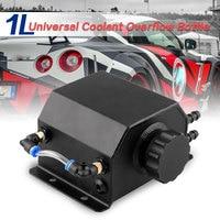Coolant Tank 1L Oil Catch Can Reservoir Tank Coolant Overflow Oil Tank Fuel Tank Aluminum Universal