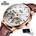 Мужские автоматические механические часы HAIQIN, светящиеся простые деловые часы с турбийоном, военные часы, мужские часы 2019