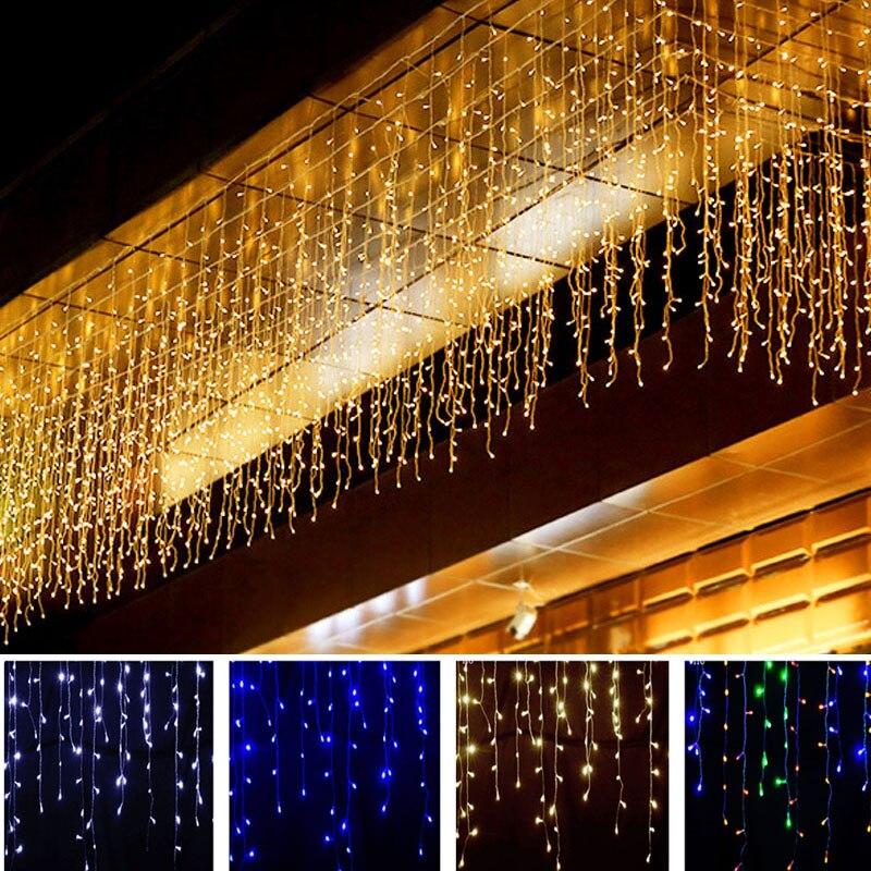 5M Отличный подарок на Рождество светильник водопад на открытом воздухе украшения droop 0,4-0,6 м EU/US светодиодный подвесной светильник шторы стр...