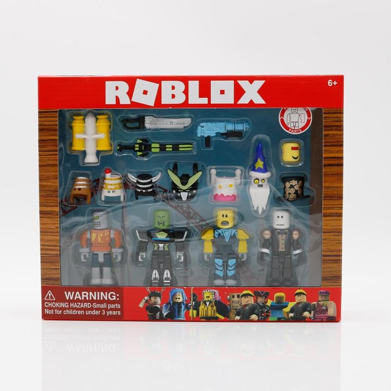 ROBLOX робот райот смешанный и сочетающийся набор 7 см модели куклы для мальчиков детские игрушки Фигурки джугетов Коллекционные Фигурки Рожд...