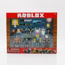Roblox conjunto de bonecos robô 7cm, conjunto de robô riot, action figures de presente de natal para crianças para criança
