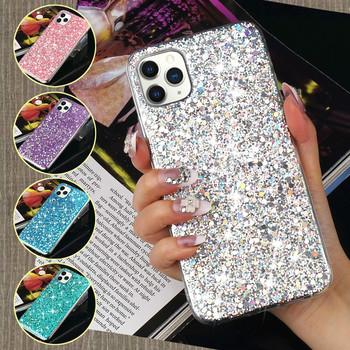 Śliczne Bling Glitter miękki futerał na IPhone 11 Pro Max X Xr Xs silikonowy futerał na telefon IPhone 7 Plus 8 6S 6 5 5S SE 12 Pro Max Mini tanie i dobre opinie Pepmune CN (pochodzenie) Aneks Skrzynki Bling Glitter Silicone Gel Soft Case For iPhone 11 Pro Max Cover Urządzenia iPhone Apple